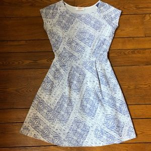 Renee C Blue/White Dress